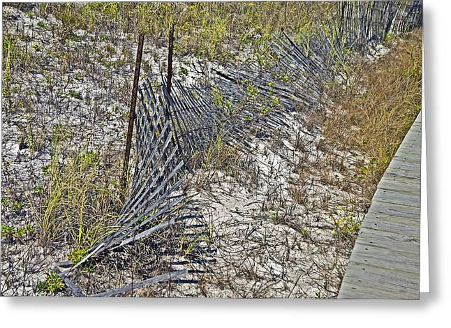 Susan Leggett Greeting Cards - Fence and Boardwalk Greeting Card by Susan Leggett
