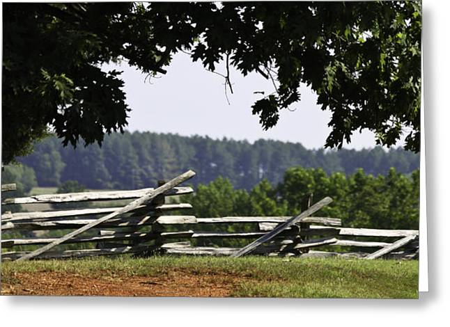 Fence at Appomattox Greeting Card by Teresa Mucha