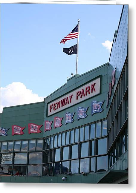 Red Sox Art Greeting Cards - Fenway Park Centennial Greeting Card by Loud Waterfall Photography Chelsea Sullens