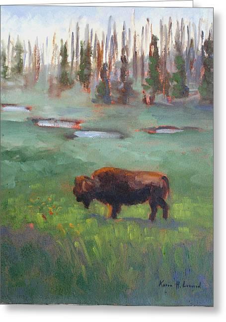Nature Scene Greeting Cards - Ferdinand Yellowstone NP Greeting Card by Karin  Leonard
