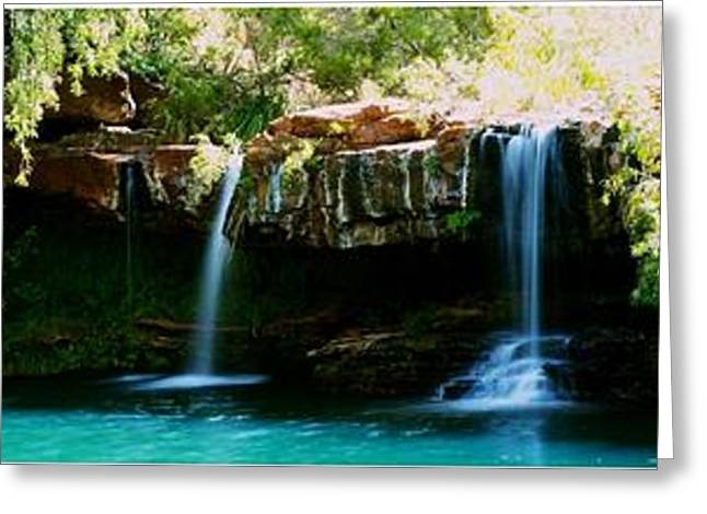 Overhang Greeting Cards - Fern Pool Greeting Card by Aaron Fisher