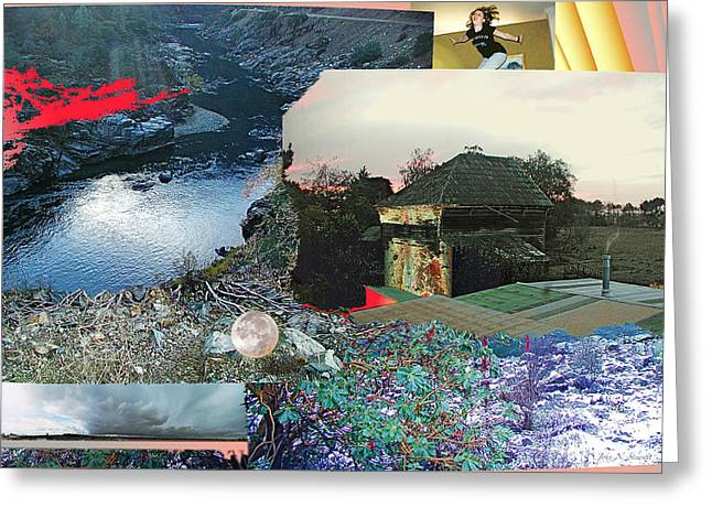 John Stewart Greeting Cards - Ferndale Moon Jump Greeting Card by John Norman Stewart