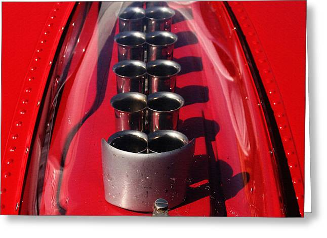 Indy Car Greeting Cards - Ferrari 250 TR Webers Greeting Card by Curt Johnson