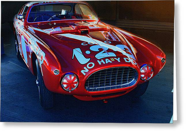 Indy Car Greeting Cards - Ferrari 344 MM Panamericana  Greeting Card by Curt Johnson