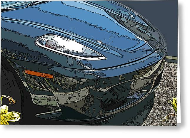 Samuel Sheats Greeting Cards - Ferrari 430 Nose Greeting Card by Samuel Sheats