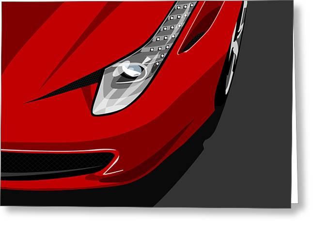 Vehicle Greeting Cards - Ferrari 458 Italia Greeting Card by Michael Tompsett