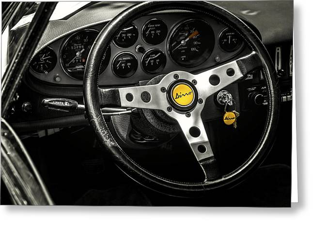 Cockpit Greeting Cards - Ferrari Dino Greeting Card by Douglas Pittman