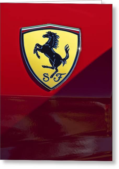 Famous Photographer Greeting Cards - Ferrari Emblem 2 Greeting Card by Jill Reger