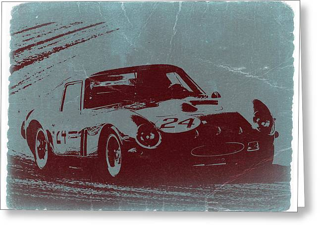 Ferrari Gto Classic Car Greeting Cards - Ferrari GTO Greeting Card by Naxart Studio