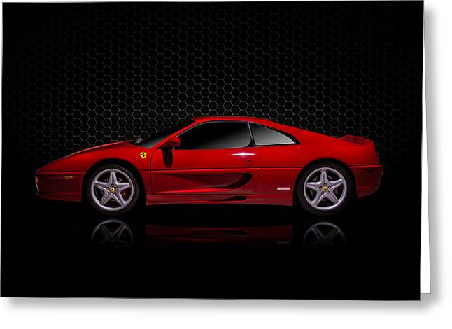 Red Greeting Cards - Ferrari Red - 355  F1 Berlinetto Greeting Card by Douglas Pittman