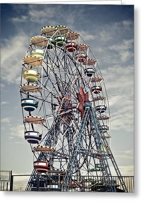 Ferris Wheel Greeting Card by Alex Anashkin