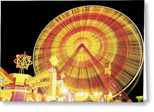 The Tourist Trade Greeting Cards - Ferris Wheel And Other Rides, Derry Greeting Card by The Irish Image Collection