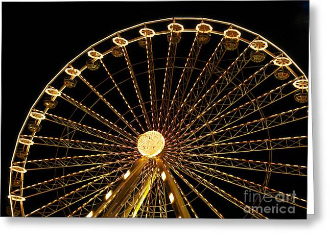 Wheels Photographs Greeting Cards - Ferris wheel Greeting Card by Bernard Jaubert