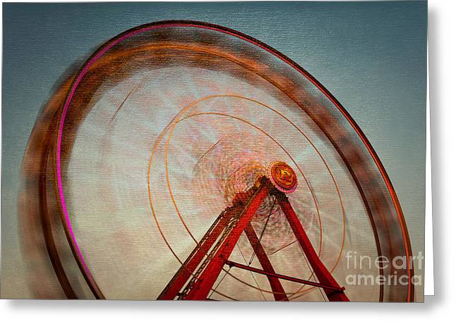 Whee Greeting Cards - Ferris Wheel IX Greeting Card by Clarence Holmes