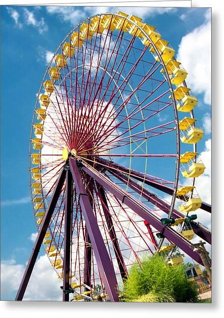 Lynnette Johns Greeting Cards - Ferris Wheel Greeting Card by Lynnette Johns