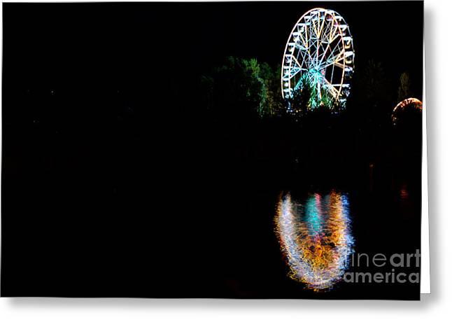 Reflecting Water Greeting Cards - Ferris wheel Greeting Card by Mats Silvan