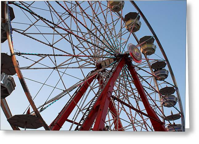 Amusements Greeting Cards - Ferris Wheel Greeting Card by Richard Lestage