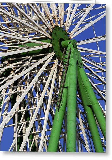 Amusements Greeting Cards - Ferris Wheel  Greeting Card by Stylianos Kleanthous