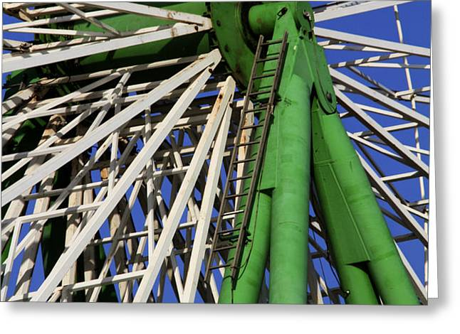 Ferris Wheel  Greeting Card by Stylianos Kleanthous