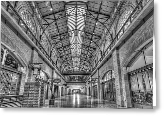 Space Photographs Greeting Cards - Ferry Market Building Black and White Greeting Card by Scott Norris