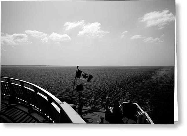 Black Flag Greeting Cards - Ferry Ride Greeting Card by Cale Best