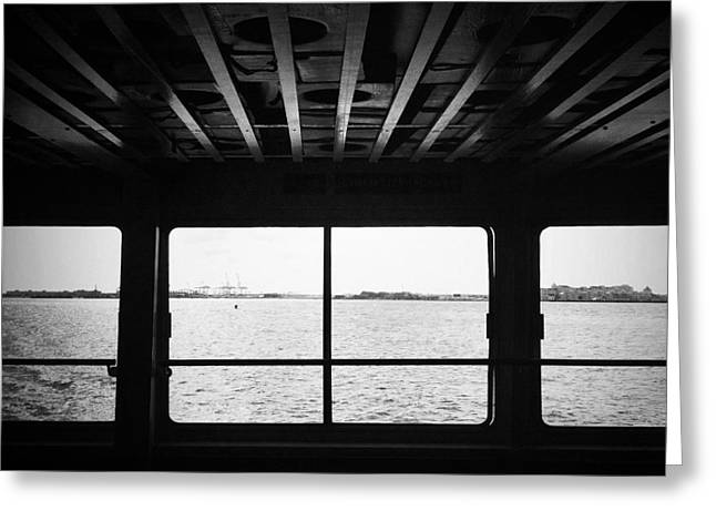 Ferry Window Greeting Card by Eli Maier