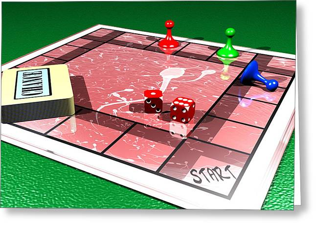 Monopoly Greeting Cards - Fertility Greeting Card by Christian Darkin