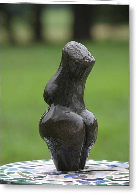 Torso Sculptures Greeting Cards - Fertility Goddess back Greeting Card by Tommy  Urbans