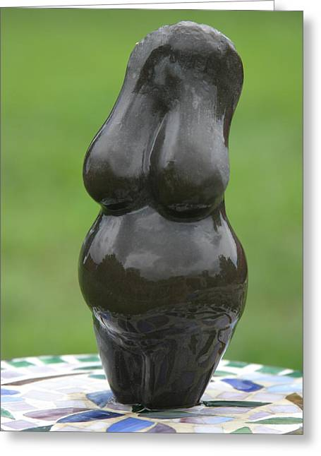 Stronger Sculptures Greeting Cards - Fertility Goddess Greeting Card by Tommy  Urbans