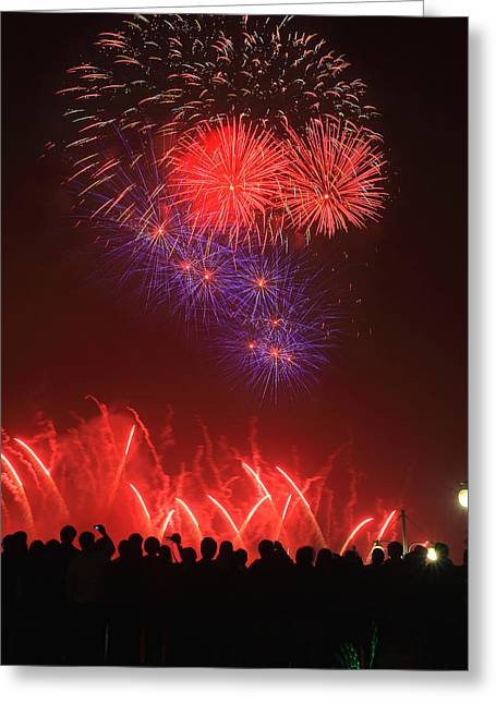 Pyrotechnics Greeting Cards - Festival fireworks Greeting Card by Zhengsheng