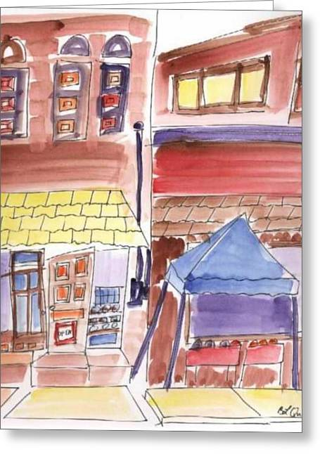 B L Qualls Greeting Cards - Festival in the City - 9 Greeting Card by B L Qualls
