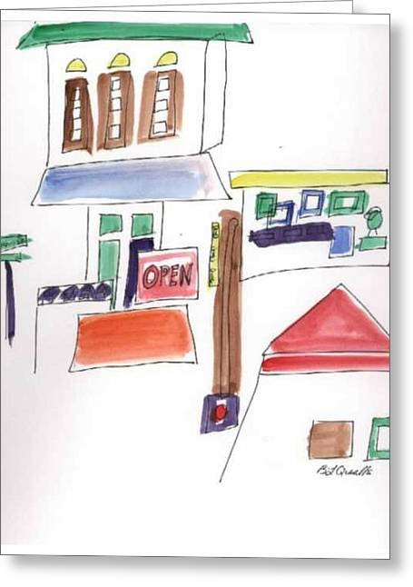 B L Qualls Greeting Cards - Festival in the City  1 Greeting Card by B L Qualls