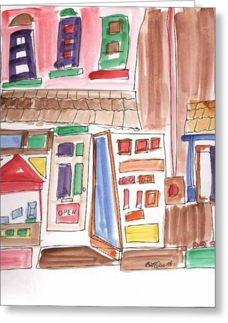 B L Qualls Greeting Cards - Festival in the City 3 Greeting Card by B L Qualls