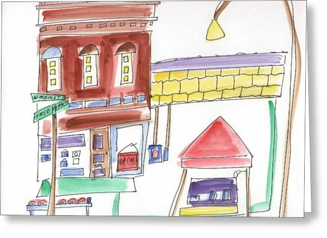 B L Qualls Greeting Cards - Festival in the City 5 Greeting Card by B L Qualls
