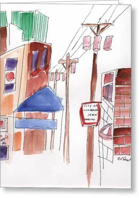 B L Qualls Greeting Cards - Festival in the City 8 Greeting Card by B L Qualls