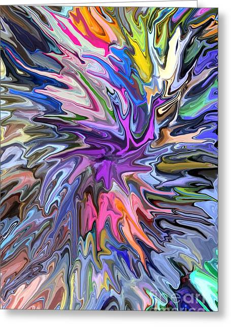 Colourful Greeting Cards - Festival of Flowers II Greeting Card by Chris Butler