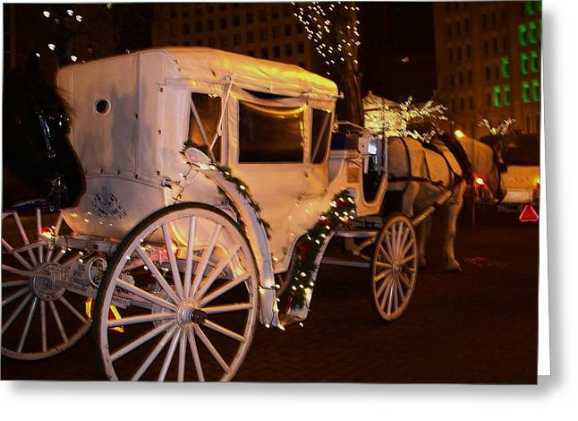 Horse And Buggy Greeting Cards - Festive Fun Greeting Card by Stephen King