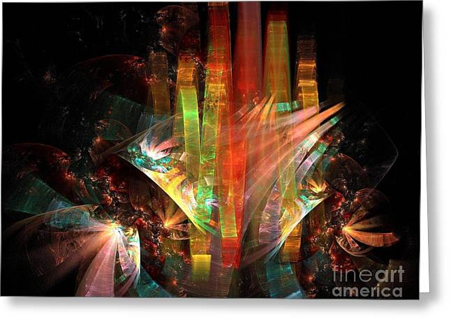 Festivities Digital Art Greeting Cards - Festivity Greeting Card by Klara Acel