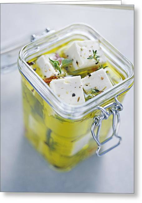 Olive Oil Greeting Cards - Feta Cheese Greeting Card by David Munns