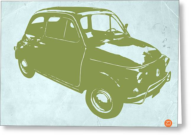 Kid Greeting Cards - Fiat 500 Greeting Card by Naxart Studio