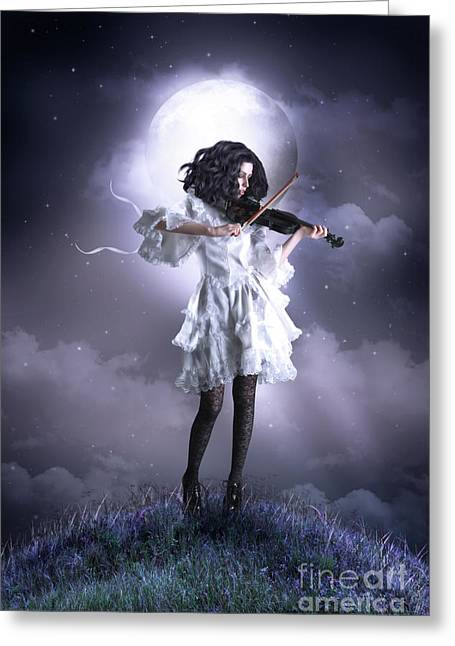 Fiddler Greeting Cards - Fiddlers Green Greeting Card by Shanina Conway