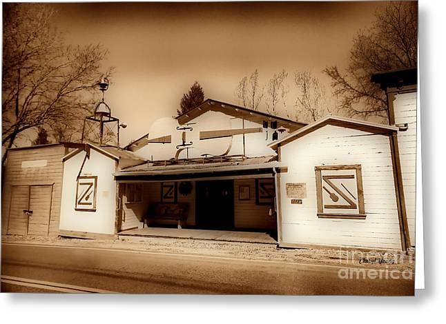Art Of Building Greeting Cards - Fiddletown Community Center Greeting Card by Cheryl Young