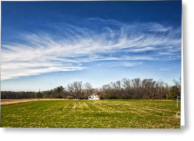 Fredricksburg Greeting Cards - Field and Sky Greeting Card by Jim Moore