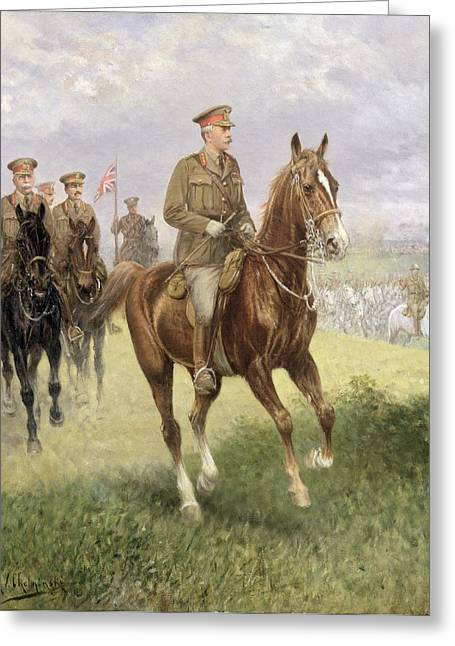 Wwi Paintings Greeting Cards - Field Marshal Haig Greeting Card by Jan van Chelminski