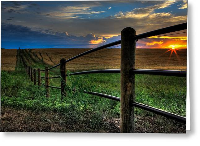 Sunrise Greeting Cards - Field of Dreams II Greeting Card by Everet Regal