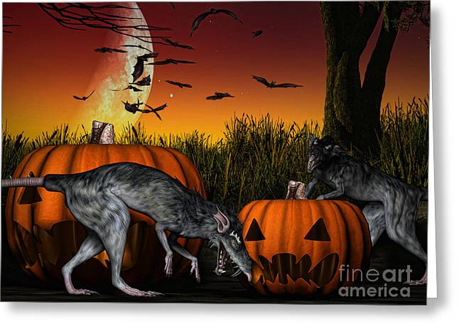 Cgi Greeting Cards - Field of Nightmares Greeting Card by Alexander Butler