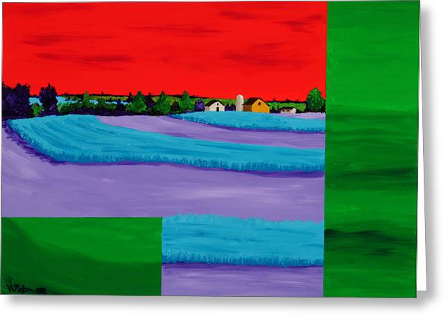 Fields of Green Greeting Card by Randall Weidner