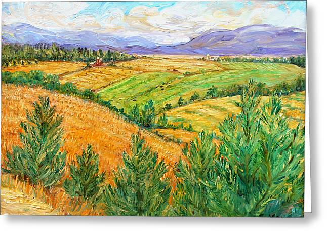 Ithaca Greeting Cards - Fields of Summer Greeting Card by Ethel Vrana