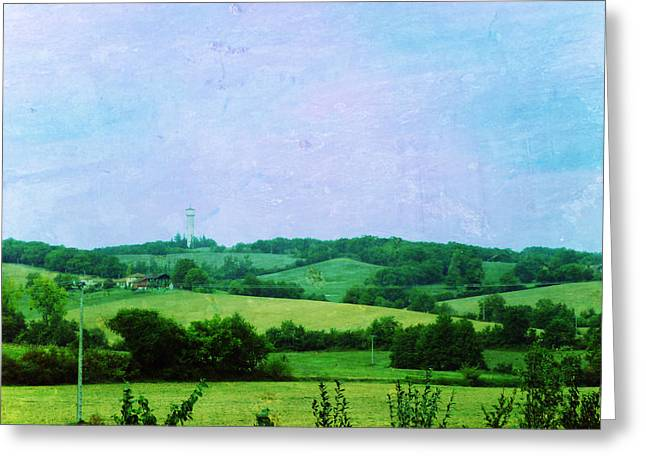 """south West France"" Greeting Cards - Fields Greeting Card by Sandrine Pelissier"