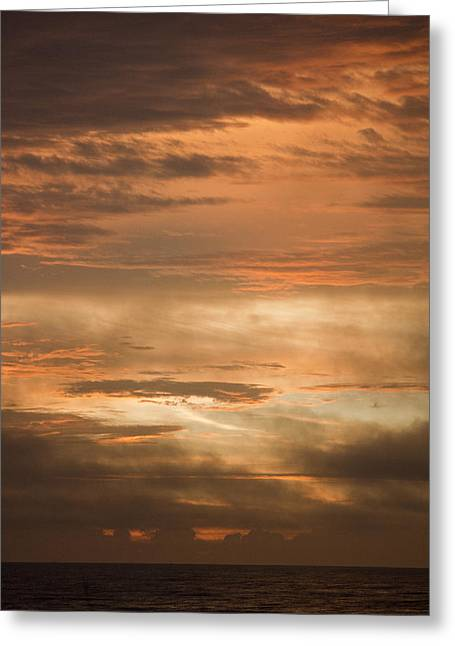 Firmament Greeting Cards - Fiery Atlantic Sunrise 2 Greeting Card by Teresa Mucha